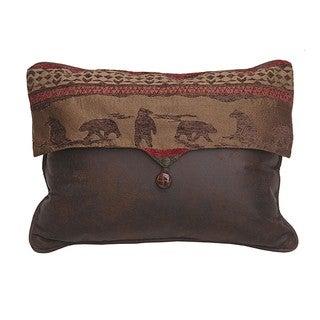 HiEnd Accents Bear EnvelopThrow Pillow 18 X 18