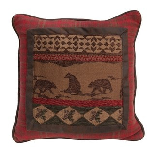 HiEnd Accents Bear 18x18 Square Throw Pillow