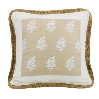 HiEnd Accents 18x18 Framed Throw Pillow with Trim