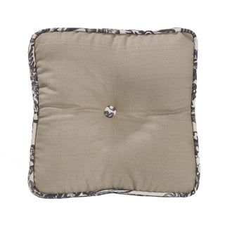 HiEnd Accents 18-inch X 18-inch Toile Piping Buttoned Boxed Throw Pillow