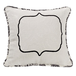 Link to HiEnd Accents Matelasse 18-inch Square Throw Pillow with Embroidery Detail Similar Items in Sewing & Quilting
