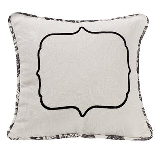 HiEnd Accents Matelasse 18-inch Square Throw Pillow With Embroidery Detail