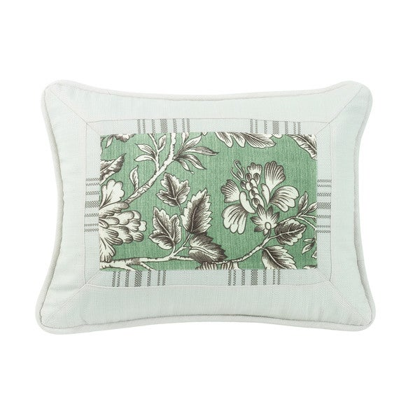 Shop Hiend Accents Mint Grey And White Printed Throw