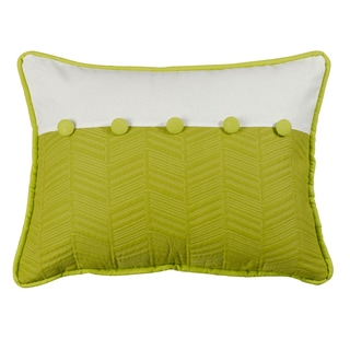 HiEnd Accents Fern & Quilted Throw Pillow
