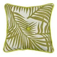 HiEnd Accents Green 18-inbch x 18-nch Fern Tufted Throw Pillow