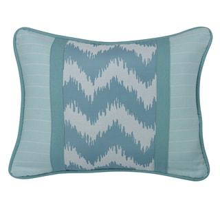 HiEnd Accents Chevron Print Blue Stripes 16-inch x 21-inch Throw Pillow