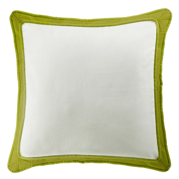 HiEnd Accents Green and White Framed Euro Sham