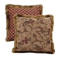 HiEnd Accents Fb2010Throw Pillow With Fringe 18 X 18