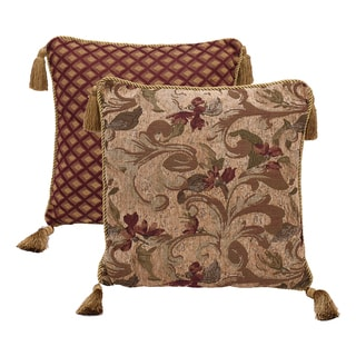 HiEnd Accents Fb2010Throw Pillow With Ropes 18 X 18