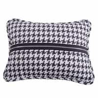 HiEnd Accents Houndstooth DecoThrow Pillow With Piping And Zipper Detail 17X13