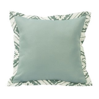 HiEnd Accents Green Textured Fabric 18-inch x 18-inch Throw Pillow With Graphic Print Flange