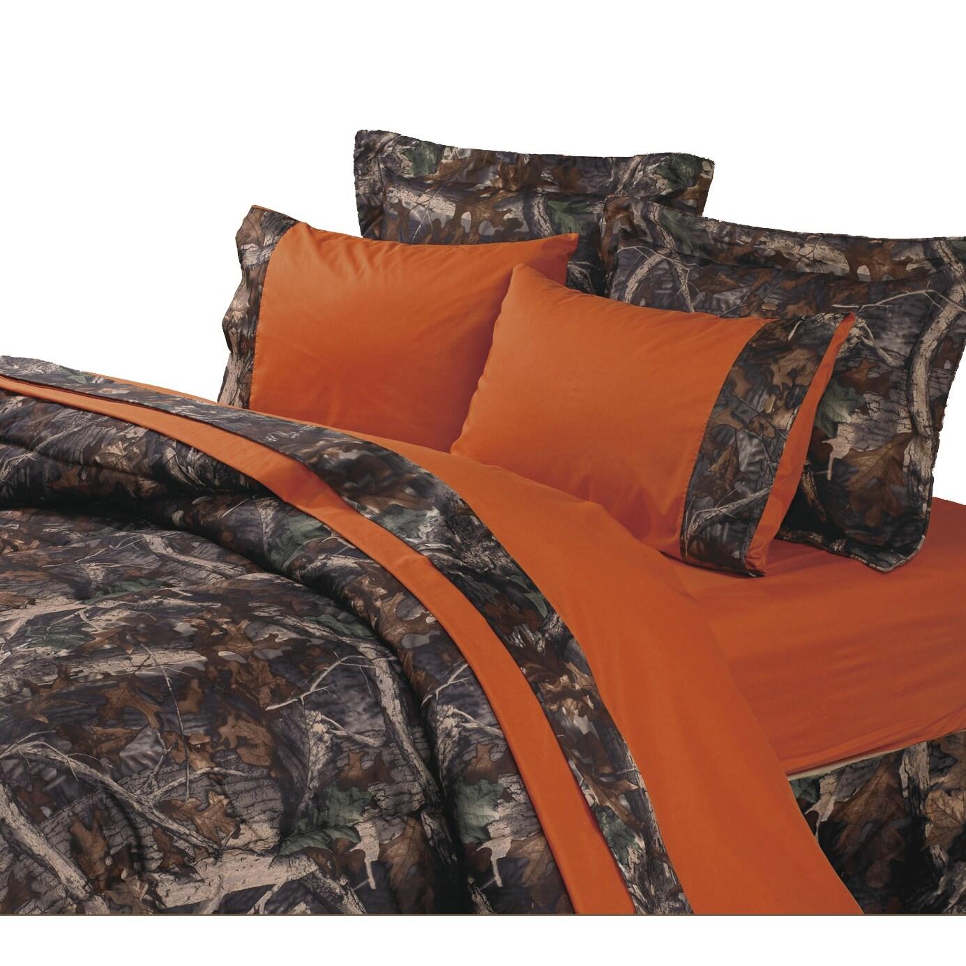 HiEnd Accents Camo Sheet Set Orange (4 Piece - King) (Pol...