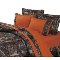HiEnd Accents Camo Sheet Set Orange