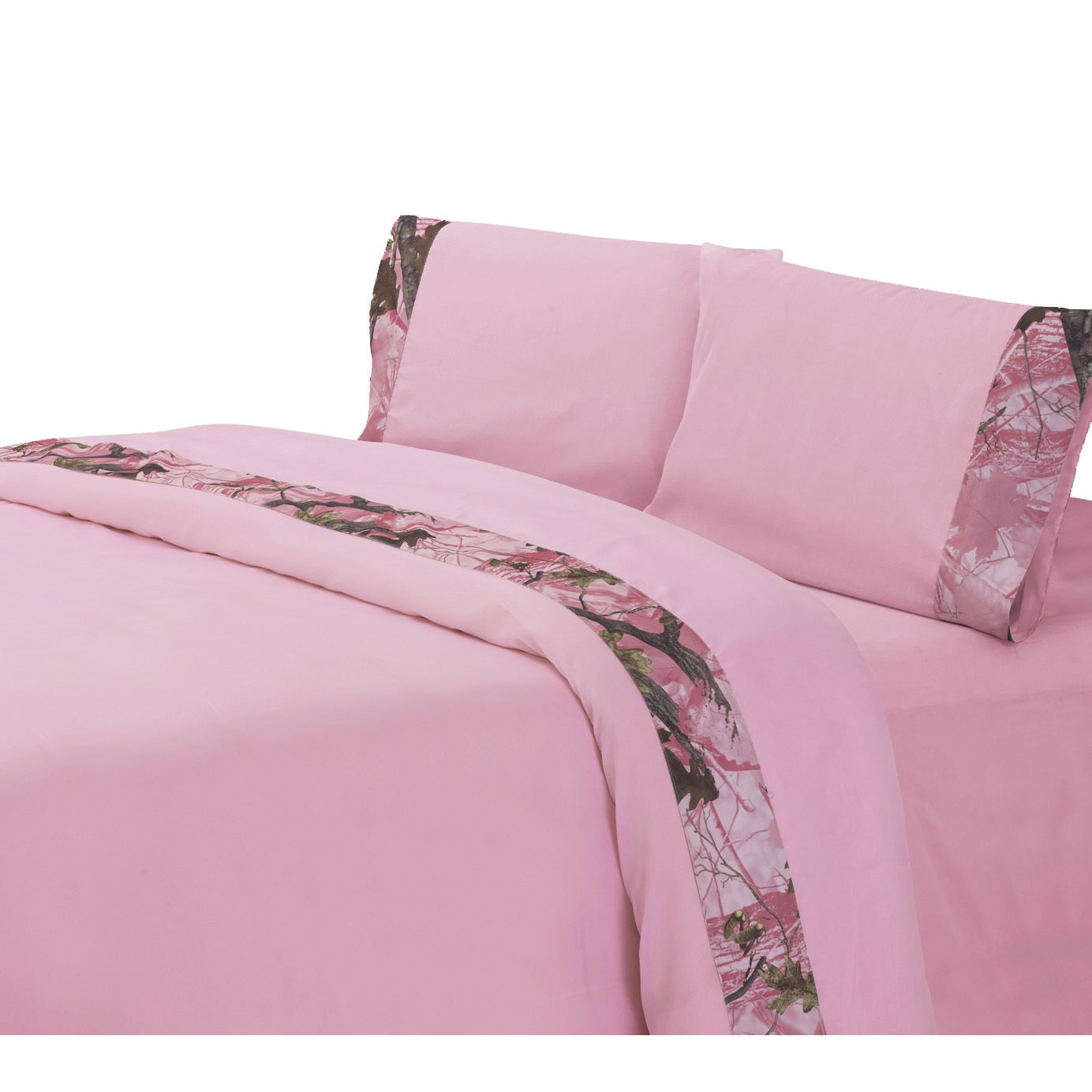 HiEnd Accents Camo Sheet Set Pink (4 Piece - Queen) (Poly...