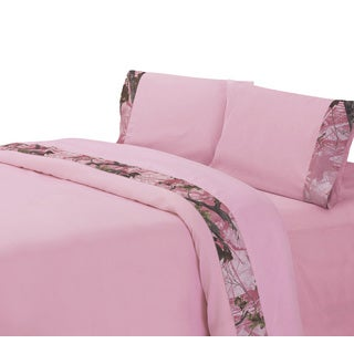 HiEnd Accents Camo Sheet Set Pink