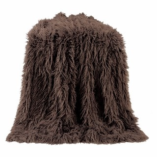 HiEnd Accents Mangolian Faux Fur 50 X 60-inch Throw