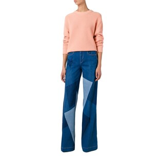 Stella McCartney Wide Leg Patchwork High Rise Jeans|https://ak1.ostkcdn.com/images/products/15910905/P22314556.jpg?_ostk_perf_=percv&impolicy=medium