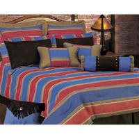 HiEnd Accents Red and Blue Denim King Size Comforter Set