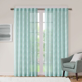 Urban Habitat Callie Jacquard Clipped Geo Sheer Curtain Panel
