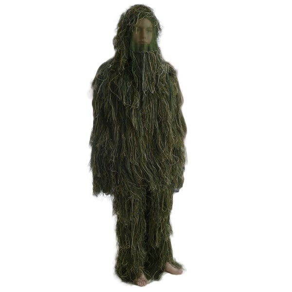 Military Men's Woodland Camouflage Hunting 3D Leaf Ghillie Suits Adult