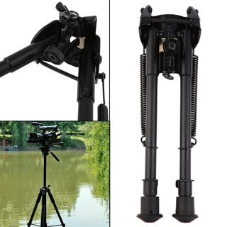 Adjustable 9-13-inch Bipod Spring Sling Swivel Tactical Mount Hunting