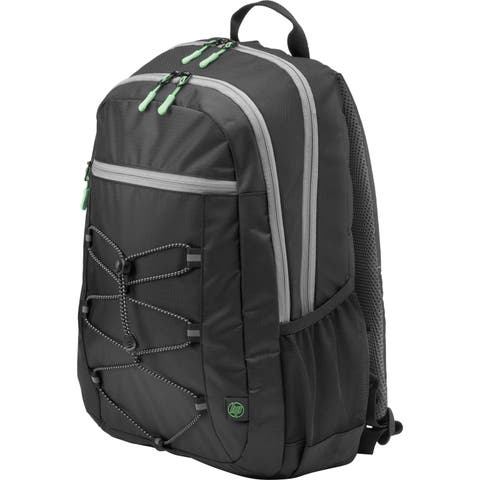"""HP Active Carrying Case (Backpack) for 15.6"""" Notebook - Black, Mint Green"""