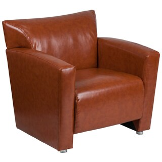 Chantilly Contemporary Cognac Leather Guest Chair