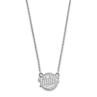 Sterling Silver Minnesota Twins Small Pendant With Necklace