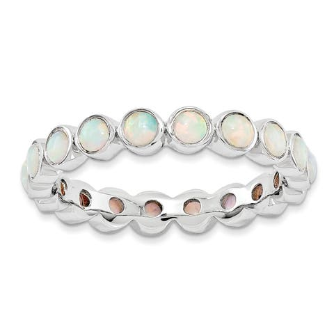 Sterling Silver Affordable Expressions Created Opal Ring