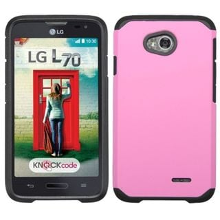 Insten Hard PC/ Silicone Dual Layer Hybrid Case Cover For LG Optimus Exceed 2 VS450PP Verizon/ Optimus L70 MS323/ Realm LS620