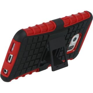 Insten Hard Snap-on Dual Layer Hybrid Case Cover with Stand For Samsung Galaxy S6 SM-G920