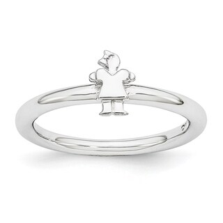 Sterling Silver Affordable Expressions Rhodium Girl Ring (More options available)