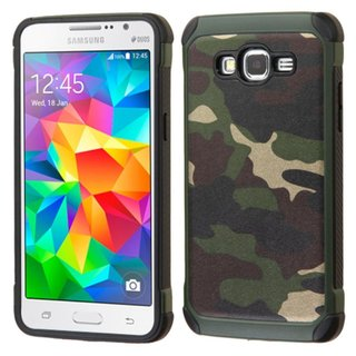 Insten Hard PC/ Silicone Dual Layer Hybrid Rubberized Matte Phone Case Cover For Samsung Galaxy Grand Prime (2 options available)