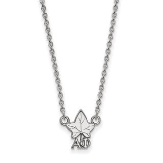 Sterling Silver Alpha Phi Extra Small Pendant With 18 inch Chain