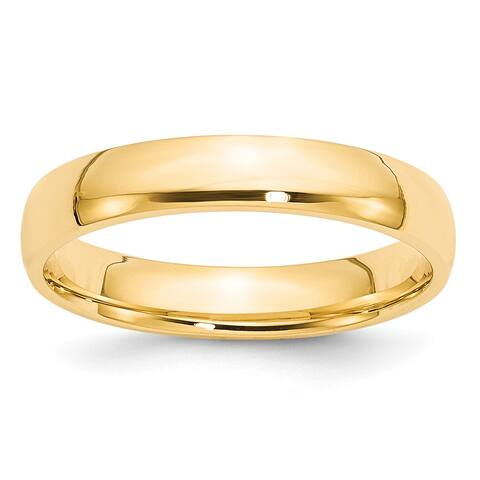 14K Yellow Gold 4mm Lightweight Comfort Fit Band by Versil