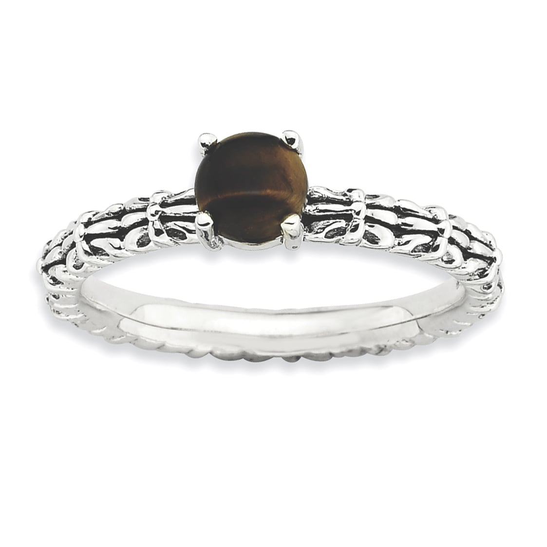 Sterling Silver Affordable Expressions Tigers Eye Antique...