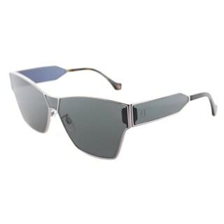 Balenciaga Smoke Ruthenium Geometric Square Sunglasses