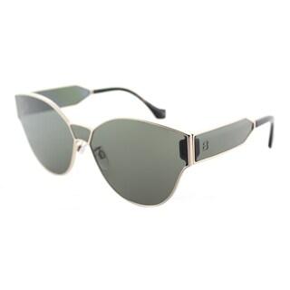 Balenciaga BA 0096 28N Rose Gold Metal Round Sunglasses with Green Lens