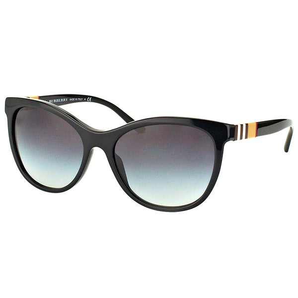 25774644f8a Burberry BE 4199 30018G Black Plastic Cat-Eye Sunglasses Grey Gradient Lens