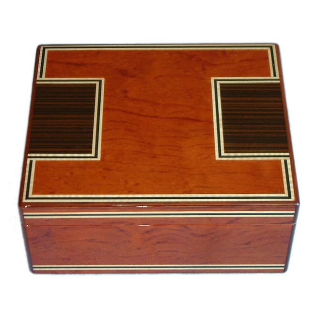 Brown High-gloss 50-cigar Humidor