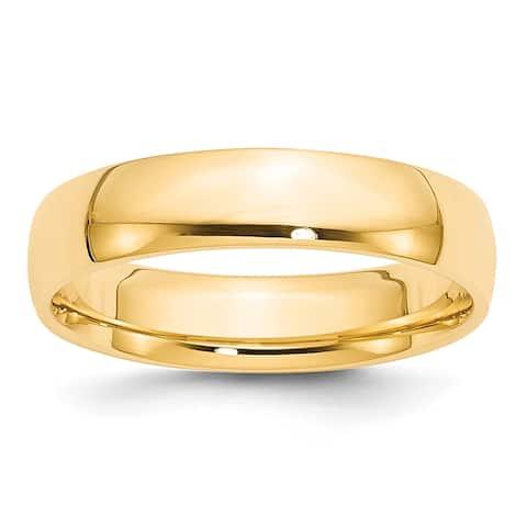 14K Yellow Gold 5mm Lightweight Comfort Fit Wedding Band by Versil