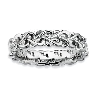 Sterling Silver Affordable Expressions Polished Intertwined Heart Ring