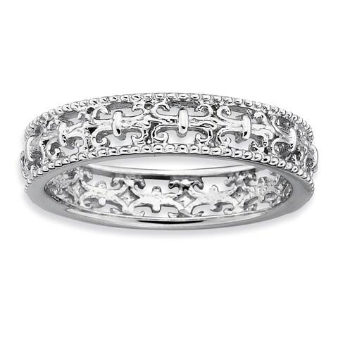 Sterling Silver Affordable Expressions Polished Fleur De Lis Ring
