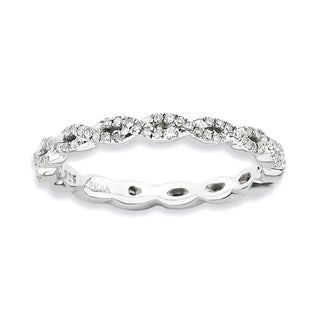 Sterling Silver Affordable Expressions Polished Diamond Ring