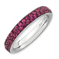 Sterling Silver Affordable Expressions Polished Created Ruby Ring