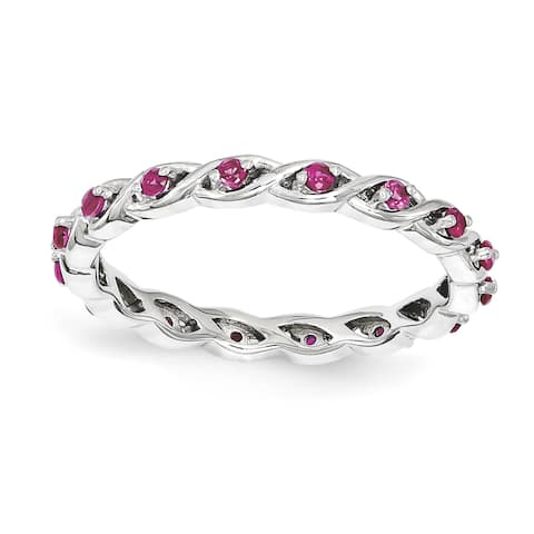 Sterling Silver Affordable Expressions Created Ruby Ring