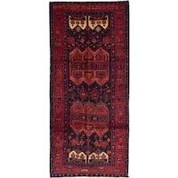 ecarpetgallery Zanjan Blue, Red Wool Rug (4'2 x 9'9)