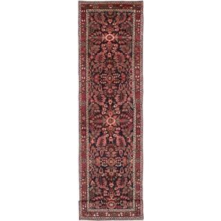 ecarpetgallery Lilihan Black, Red Wool Rug (3'5 x 14'1)