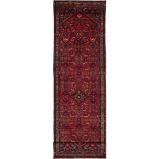 ecarpetgallery Hosseinabad Red Wool Rug (3'9 x 14'5)
