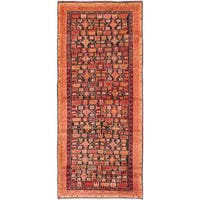 ecarpetgallery Ardabil Blue, Red Wool Rug (3'6 x 8'2)
